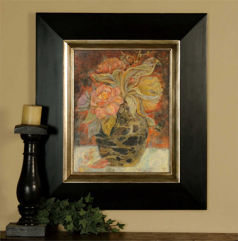 Wood Framed Floral Art