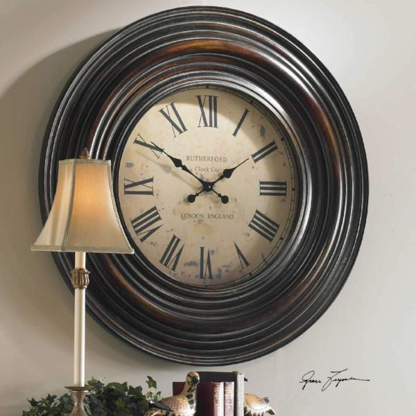 "38"" Wooden Wall Clock"