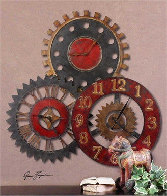 Unique Metal Wall Clock