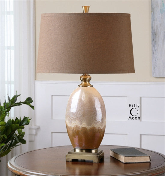 Ceramic Table Lamp with Oval Shade
