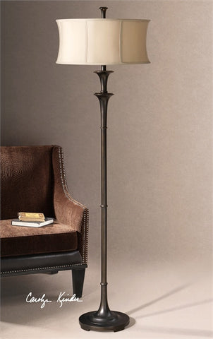 "70"" Brazoria Floor Lamp with White Linen Shade"