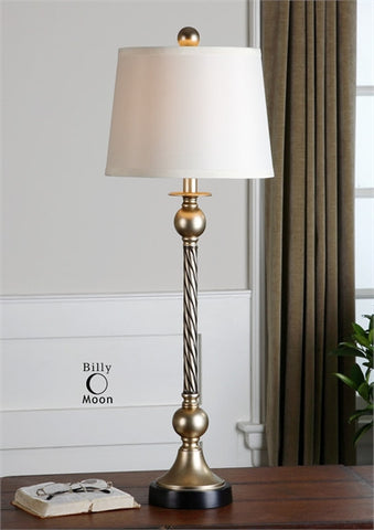 "34"" Toano Table Lamp with White Linen Shade"
