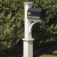 White Dover Mail Post by Walpole Outdoors