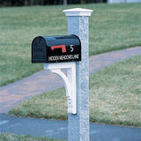 Gray Rock Granite Mail Post by Walpole Outdoors