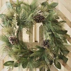 "24"" Revelry Pine Artificial Wreath"