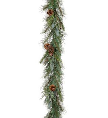 6' Mixed Pine and Juniper Artificial Garland