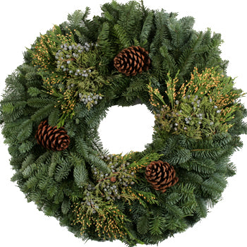 Western Mixed Greens Wreath 12-16""