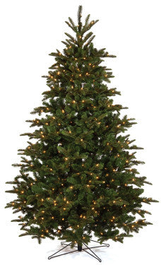 7.5' Elfin Fir Full Pre-lit LED Artificial Christmas Tree