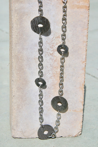 Simple Forged Steel Chain Necklace