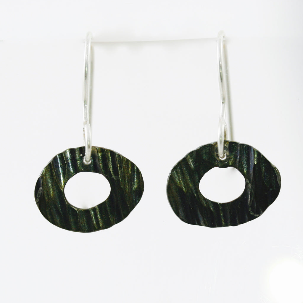 Stainless Steel Disc Earrings