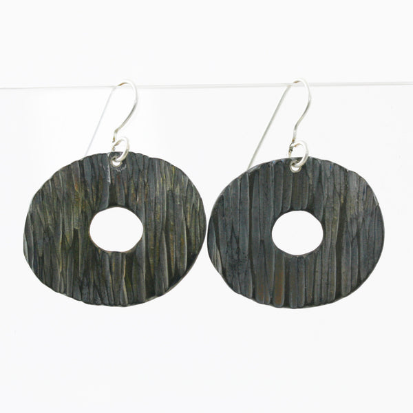Large Stainless Steel Disc Earrings