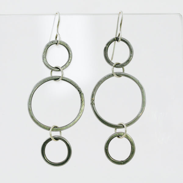 Triple Stainless Steel Hoop Earrings