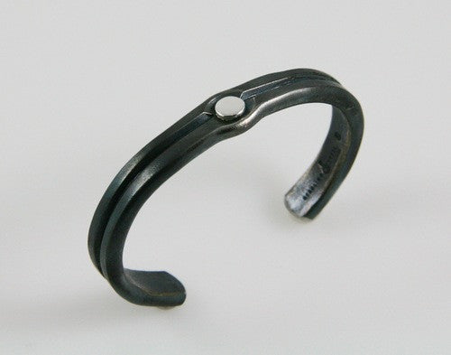 Silver Rivet Cuff: Men and Women