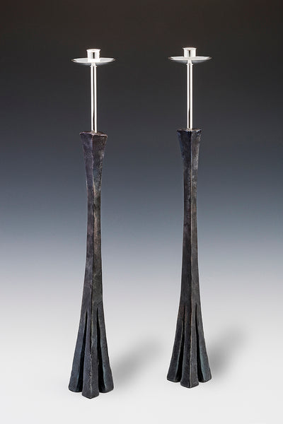 Extra Tall Chiseled Candlesticks