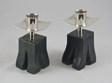 Chiseled Base With Short Candlesticks