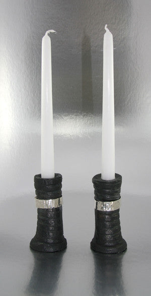 Belted Tall Twist Candleholder