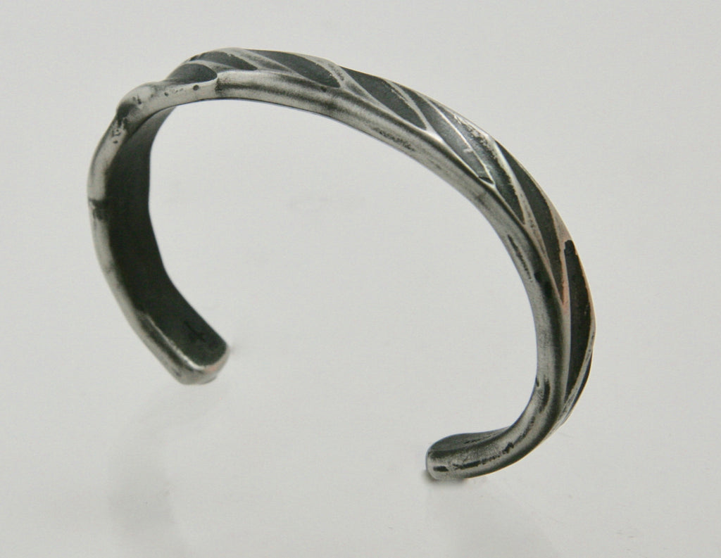 Narrow Rope Steel Cuff
