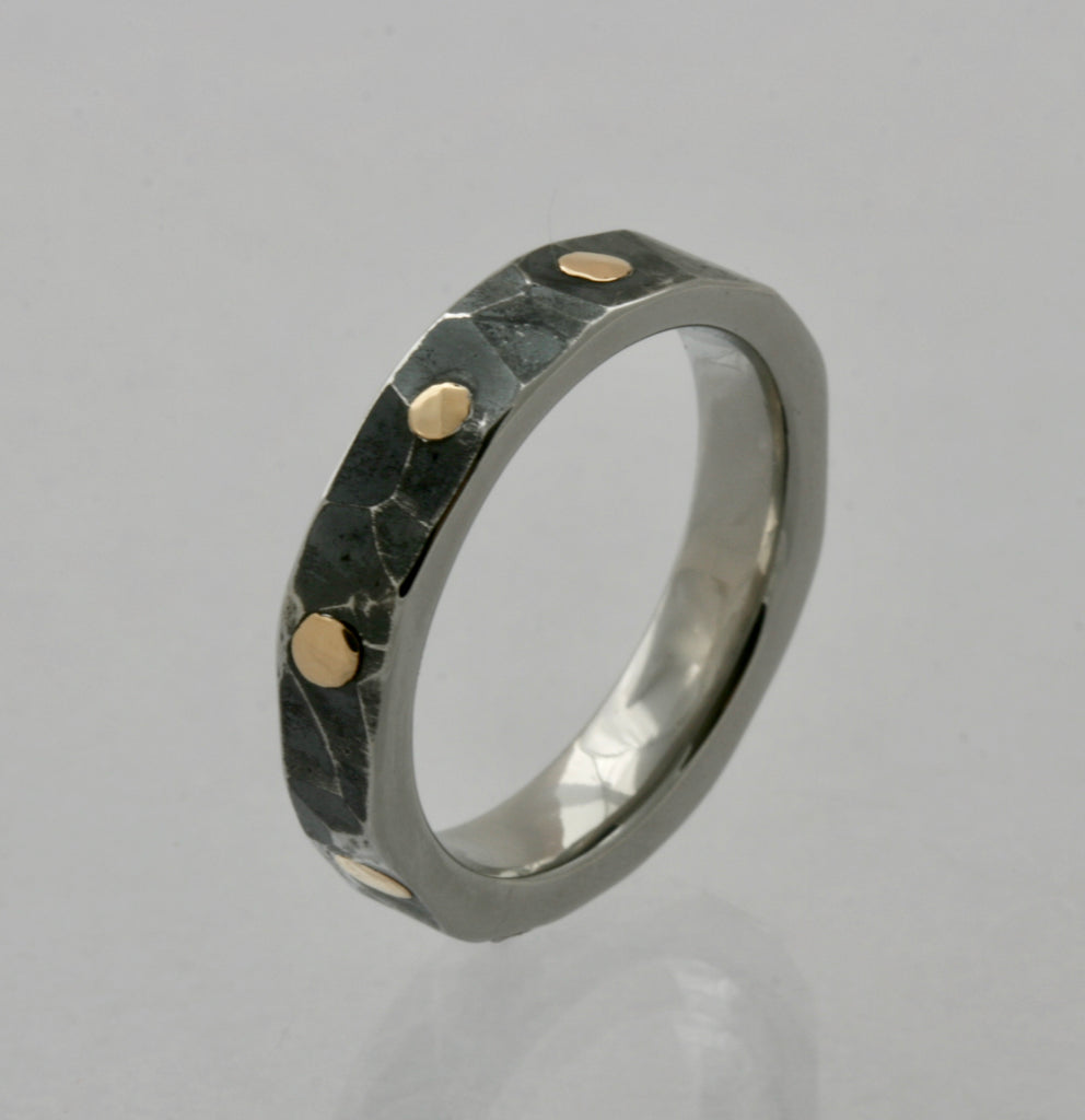Ring with Rivets