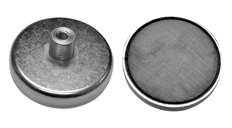 SuperMagnetMan Cap Magnet.  Also known as Pot Magnet. Excellent as holding magnets.  Provides a strong holding magnet in a smaller area.  These holding magnets can provide greater holding and pull force. www.supermagnetman.com