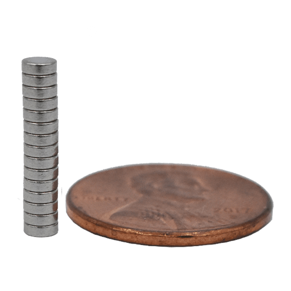 SuperMagnetMan Neodymium Disc Magnet.  Used as medical magnets, holding magnets, sensor magnets, consumer electronics magnets.  These small magnets are strong rare earth neodymium magnets also used as automotive magnets.