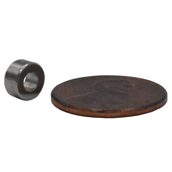 Strong Rare Earth Neodymium Ring Magnet!  Great for use as a medical magnet, sensor magnet, holding magnet, motor magnet, and more.  Large inventory!
