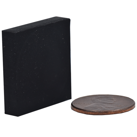 SuperMagnetMan Rubber Coated Square Magnet.  Used as medical magnets, motor magnets, automotive magnets, holding magnets, and robotics magnets.  Strong rare earth neodymium magnets. www.supermagnetman.com