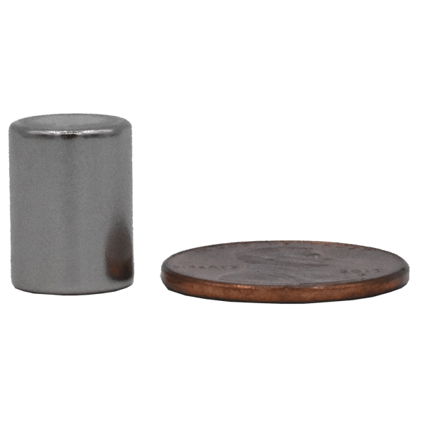 SuperMagnetMan Neodymium Cylinder Magnet.  Used as medical magnets, holding magnets, sensor magnets, consumer electronics magnets.  These cylinder magnets are strong rare earth neodymium magnets also used as automotive magnets.