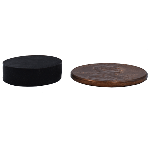SuperMagnetMan Rubber Coated Neodymium Disc Magnet.  Used as holding magnets, sensor magnets, consumer electronics magnets.  Rubber coated disc magnets are strong rare earth neodymium magnets also used as automotive magnets.  Rubber coated magnets provide great holding strength.
