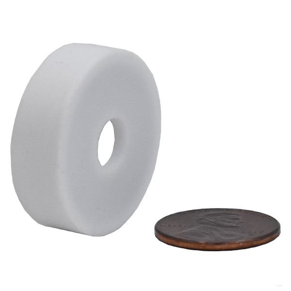 SuperMagnetMan Teflon coated neodymium ring magnet.  Used as medical magnets, sensor magnets, motor magnets, and consumer electronics magnets.  Teflon coated ring magnets are strong rare earth magnets and the Teflon coating provides great protection to the neodymium magnet.  www.supermagnetman.com