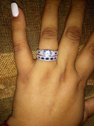 2 piece wedding ring
