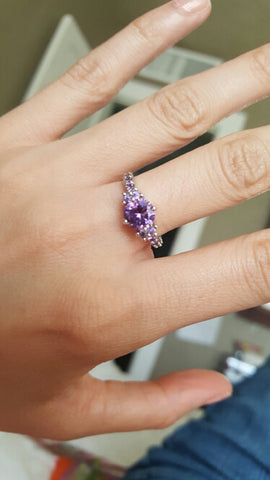 Purple amethyst stone 1