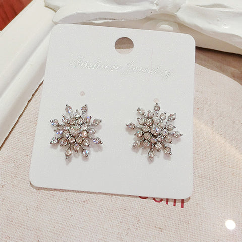 Twinkling Winter Fairy Snowflake Crystal Earrings