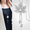 Image of Gorgeous Trendy Long Statement Crystal Necklace