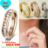 Image of Stunning Silver/ Gold/ Rose Gold Unisex Wedding Bands Size US 3-10 (UK F-T1/2) - 87% OFF!
