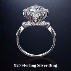 Solid 925 Sterling Silver Wedding Engagement Ring