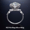 Image of Solid 925 Sterling Silver Wedding Engagement Ring