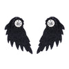 Image of Gorgeous Vintage Angel Wings Crystal Stud Earrings