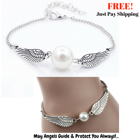 **FREE** Angel Wings Peace Bracelet