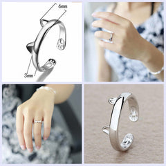 Cute Cat Ear Claw Ring