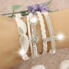 Image of New Handmade Cross Infinity Angel's Wing Charm Bracelet- FREE SHIPPING!