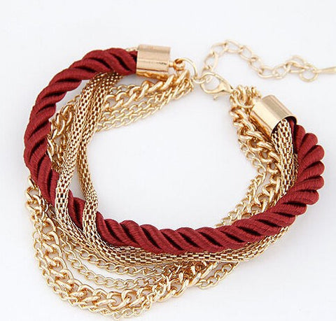 Fashionable Rope Chain Bracelets- 6 Colours