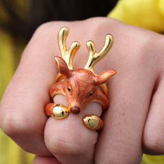 Cute 3 Piece Deer Ring