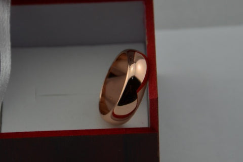 22K Gold Filled 6 mm Titanium Steel Unisex Wedding Ring