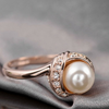 Image of JUNE BIRTHSTONE PEARL RING