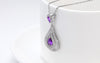 Image of Elegant 925 Sterling Silver Water Drop Women Necklace