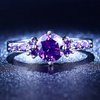 Image of ***FREE*** Luxury Vintage Amethyst CZ Diamond Ring (US 5-10, UK J1/2-T1/2)