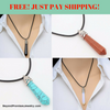 Image of **FREE** Natural Quartz Gemstone Chakra Healing Reiki Necklaces