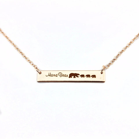 Mama Bear Necklace 1 to 5 Cubs