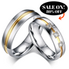 Image of New Fashion Men Women Wedding Rings