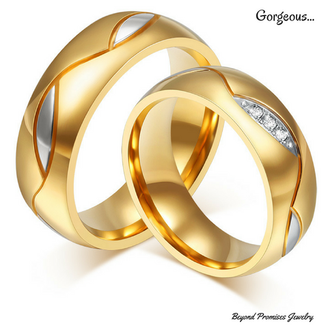 Gorgeous His & Hers Wedding Rings